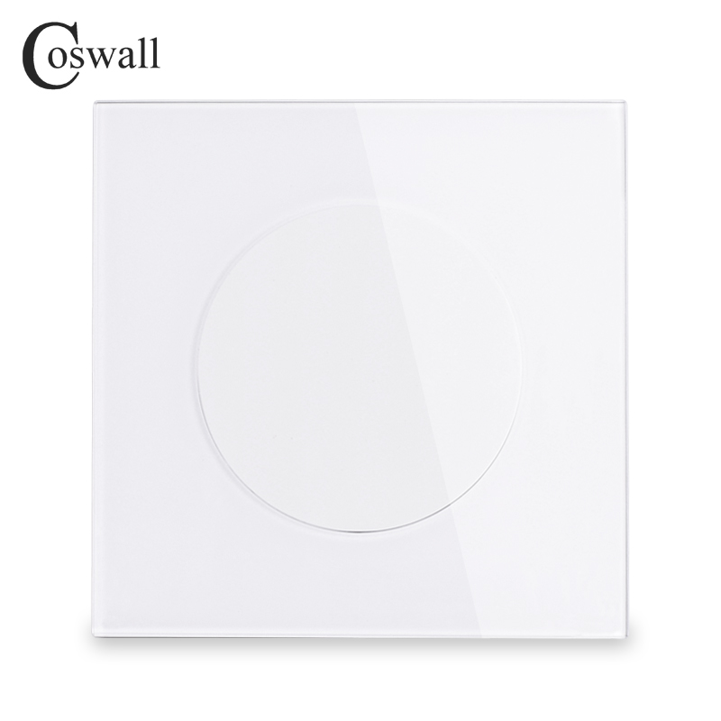 Coswall 2018 New Arrival Crystal Tempered Glass Blank Panel Only For Decoration