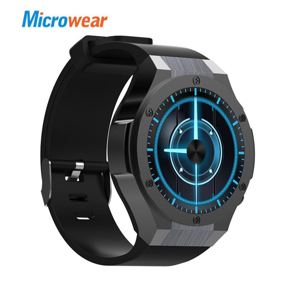 Microwear H2 3G Smartwatch Phone Android 5.0 MTK6580 1.0GHz Quad Core 1GB+16GB 5.0MP Camera Heart Rate Monitor Pedometer GPS jrgk kw99 3g smartwatch phone android 1 39 mtk6580 quad core heart rate monitor pedometer gps smart watch for mens pk kw88