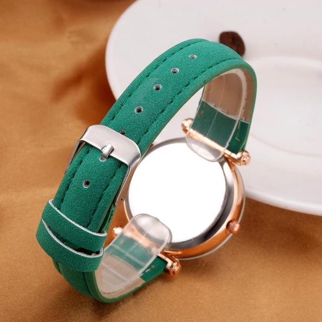 Bracelet Watch Contracted Leather Crystal WristWatch 4