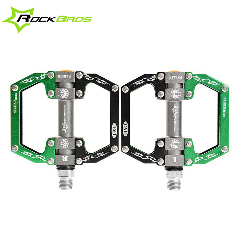 ROCKBROS Ultralight MTB Bicycle Pedals Aluminum Alloy Sealed Bearing Road Bike Pedals High Quality Flat/Platform Cycling Pedals rockbros bike mtb pedals magnesium alloy titanium spindle platform pedals cycle bicycle cycling 9 16 sealed pedales 5 colors