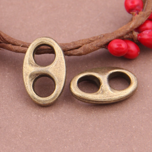Free Shipping two holes Double crane connector charm pendant 25pcs 11*15mm antique bronze fit necklace diy metal jewelry making