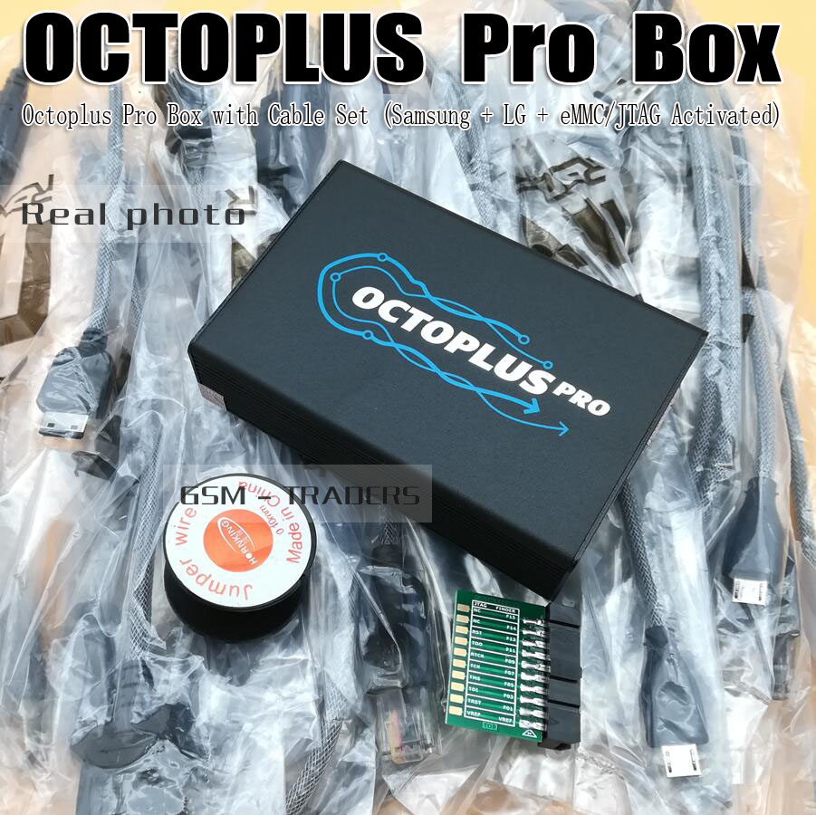 RUIAO Octoplus pro Boîte pour Samsung pour LG + JTAG Activé avec 7 dans 1 Câble/Adaptateur Ensemble