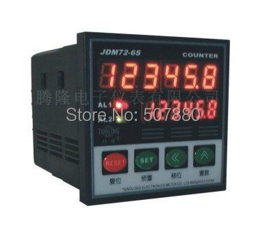 JDM72-6S intelligent digital counter meter counter cable length measurment  in unit  yard or inch high quality digital length counter meter with length measurment wheel