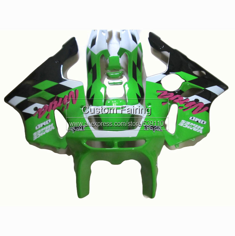 special  custom  fairings for Kawasaki ninja zx6r  94 95 96 green   zx 6r fairing kit 1994 1995 1996 1997 97 xl18