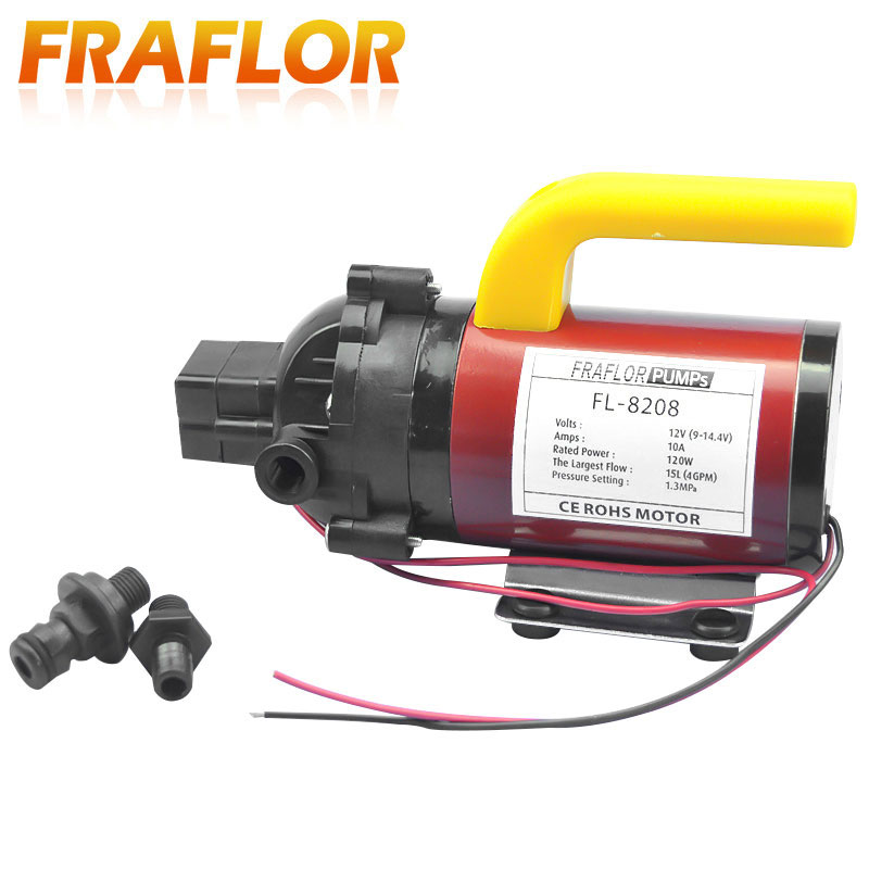 High Pressure DC 12V 120W Diaphragm Pump Portable Car Washer Pump With Pressure Switch Self Priming