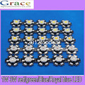 50pcs 1W 3W High Power white warm white red green Blue Royal blue 660nm LED with 20mm star pcb