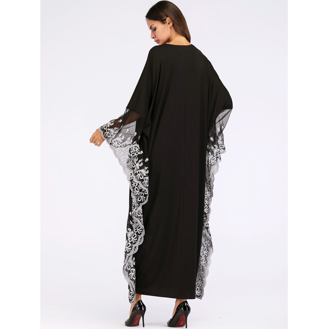 UAE Kaftan Abaya Dubai Indonesia Robe Arab Women Long Embroidery Muslim Hijab Dress Turkish Islamic Dress 4