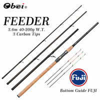 feeder fishing rod spinning rod travel Portable 3.6m 40 200g carp fresh water fishing rod OBEI