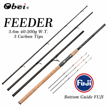feeder fishing rod spinning rod travel Portable 3.6m 40-200g carp fresh water fishing rod OBEI 200g