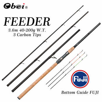 feeder fishing rod spinning rod travel Portable 3.6m 40-200g carp fresh water fishing rod OBEI - DISCOUNT ITEM  46% OFF All Category