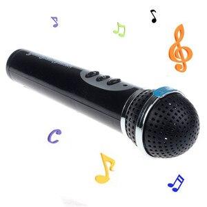 2018 Kids Simulation Microphone Children Black Modern Microphone Mic Karaoke Singing Girls Funny Toys Boys Music Toy Gift(China)