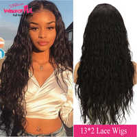 "Brazilian Natural Wave Remy Lace Front Wigs Human Hair Wavy Wigs 100% Human Hair Lace Wigs For Black Women 14"" 18"" 22"" 26"""