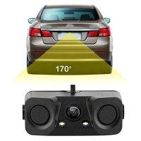 Автомобиль сенсоры парковочные Parktronics 3 in1 ночное видение радар автомобилей переключение на задний Обзор резервного копирования Парковка к...