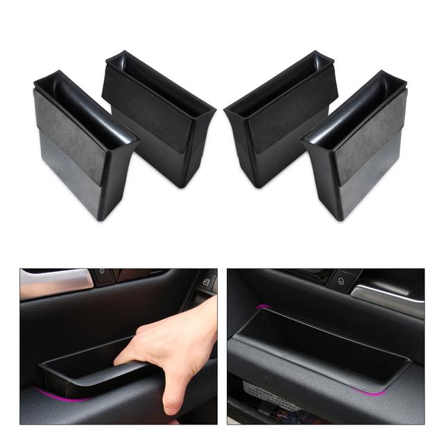 DWCX 4 pcs caixa de Armazenamento Caixa de apoio de Braço Da Porta Para Mercedes Benz GLK GLK250 classe X204 GLK300 GLK350 2009 2010 2011 2012 2013 2014