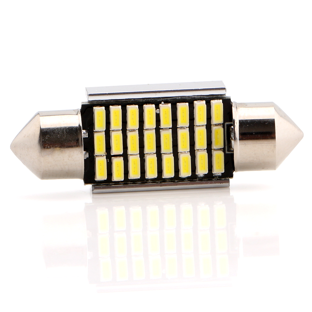 4-200pcs 36mm Festoon C5W Canbus 3014 24 SMD LED Bulbs Light Pate Number Light Ceiling Lamp Led Dome Indicator 12V Free Shipping