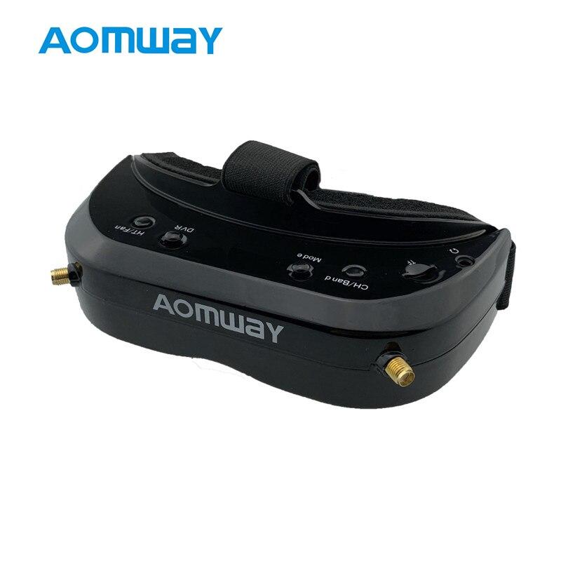 AOMWAY Commander V1S 3D HDMI diversité intégré DVR ventilateur 64CH 5.8Ghz Support tête de suivi FPV lunettes pour Drone quadrirotor RC
