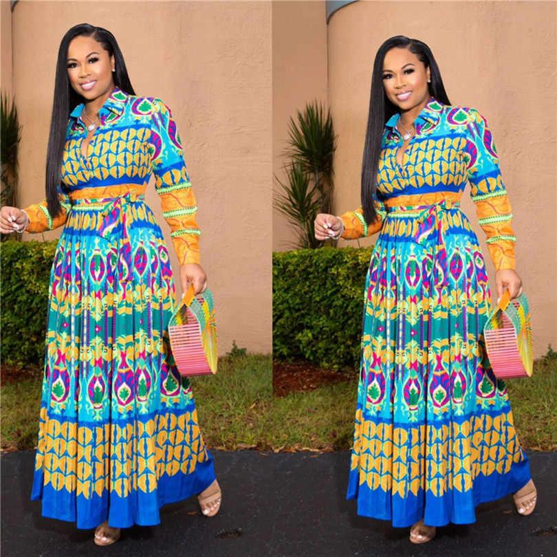 アフリカドレス女子ローブ Africaine 2019 アフリカ服 Dashiki ファッションプリント布ロングマキシドレスアフリカ服