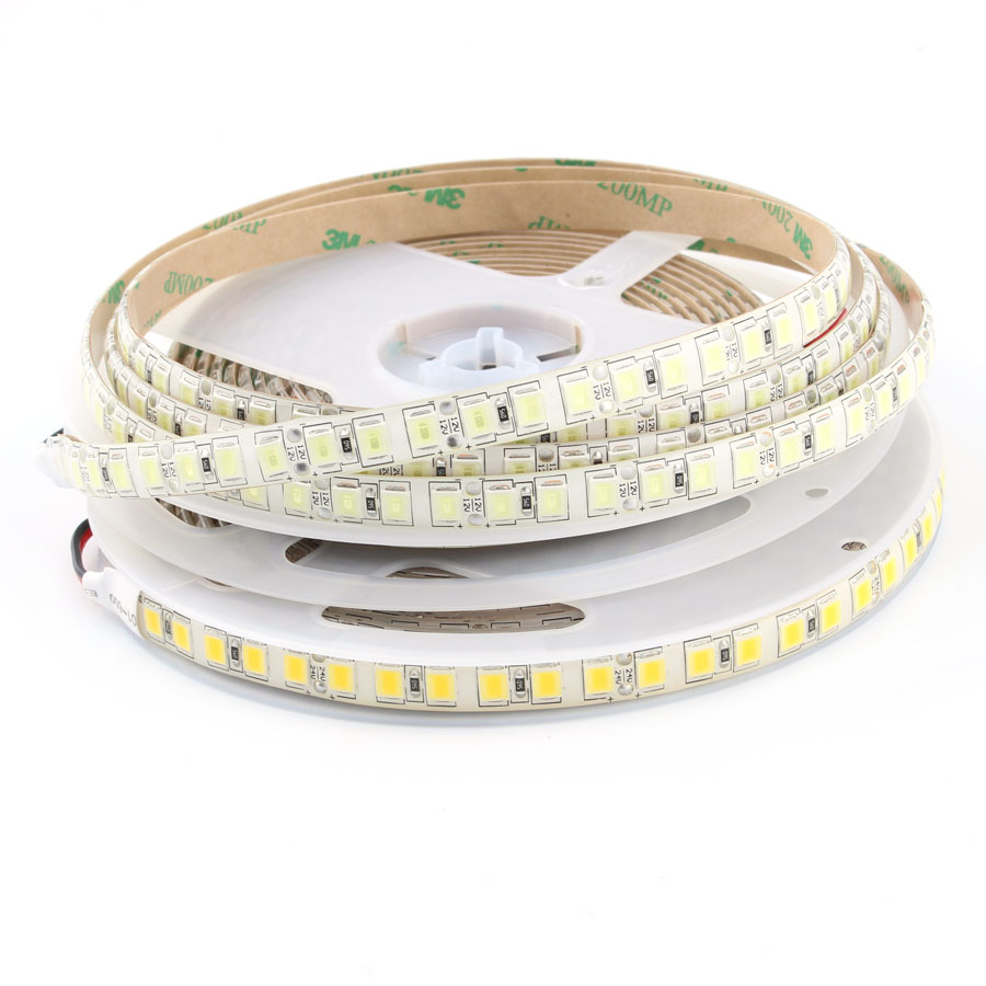 DC 12V 24V PC 5054 LED Strip Light DC12V 5M 120Led/m Flexible Led Strip Lights 12 24 V Volt Diode Ledstrip Waterproof White Warm