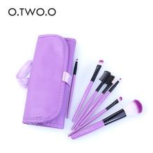 O.TWO.O Brand Purple Color Makeup Brushes Set Blush Eye Shadow Mascara Brush Professional Make Up Brushes Set 7pcs In1 Set цены