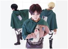 Cos Anime Attack on Titan Shingeki no Kyojin clothes wing of freedoom Eren Levi Scouting Legion Top Cosplay Cloak Cape Coat big attack on titan anime figurine shingeki no kyojin juguetes levi rivaille 25cm pvc action figure model collection model toys