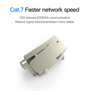 Image 2 - Vention Cat7 Ethernet Connector RJ45 Modular Ethernet Cable Head Plug Gold plated Cat 7 Shield Network Connector for Lan Cable