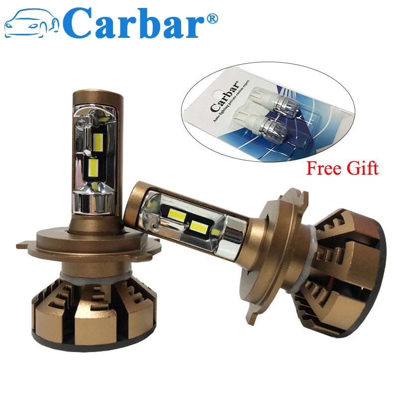 цена на Carbar# M6 LED Headlight Bulbs H4 H7 H1 H11 H8 9005 9006 H3 HB3 HB4 CSP LED Car LED Headlighs Bulb 5500K High Power LED Bulb H4