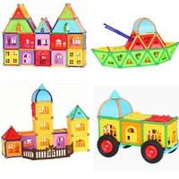 Top Magnet Toy Bars Metal Balls Magnetic Building Blocks Construction Toys For Children DIY Designer Educational