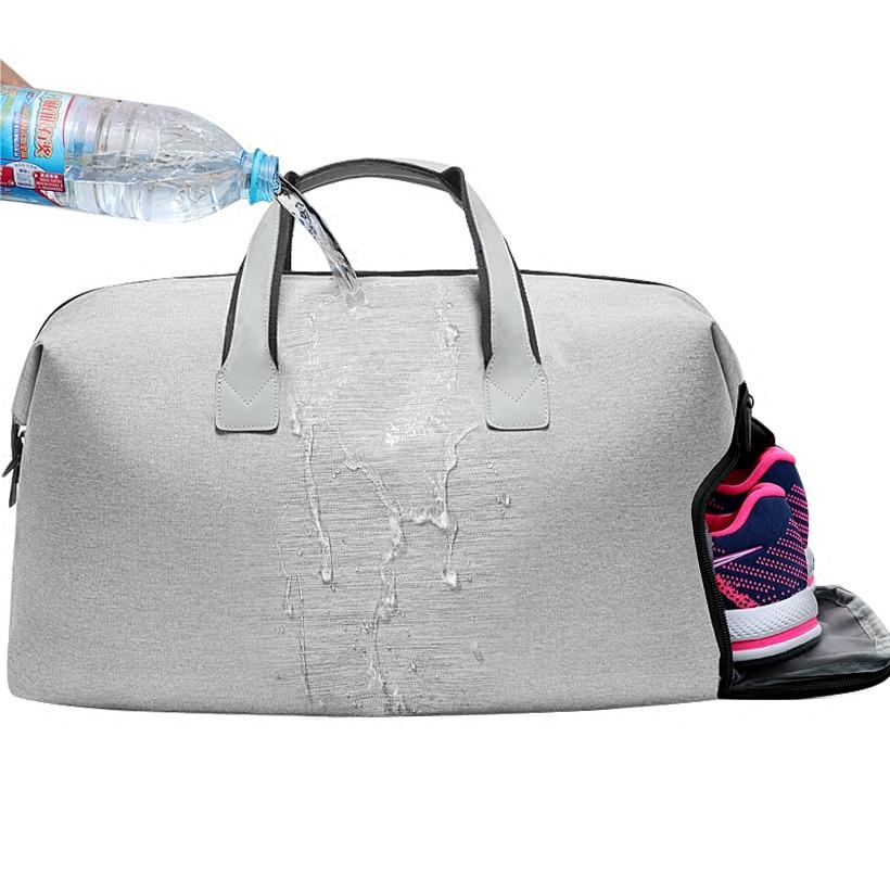 2018 trolley travel bag gray and black waterproof nylon large capacity duffle shoe bag big women men hand luggage travel bags