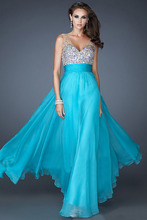 Brilliant empire chiffon sweetheart evening dress custom made pleat and beading length floor a-line long prom