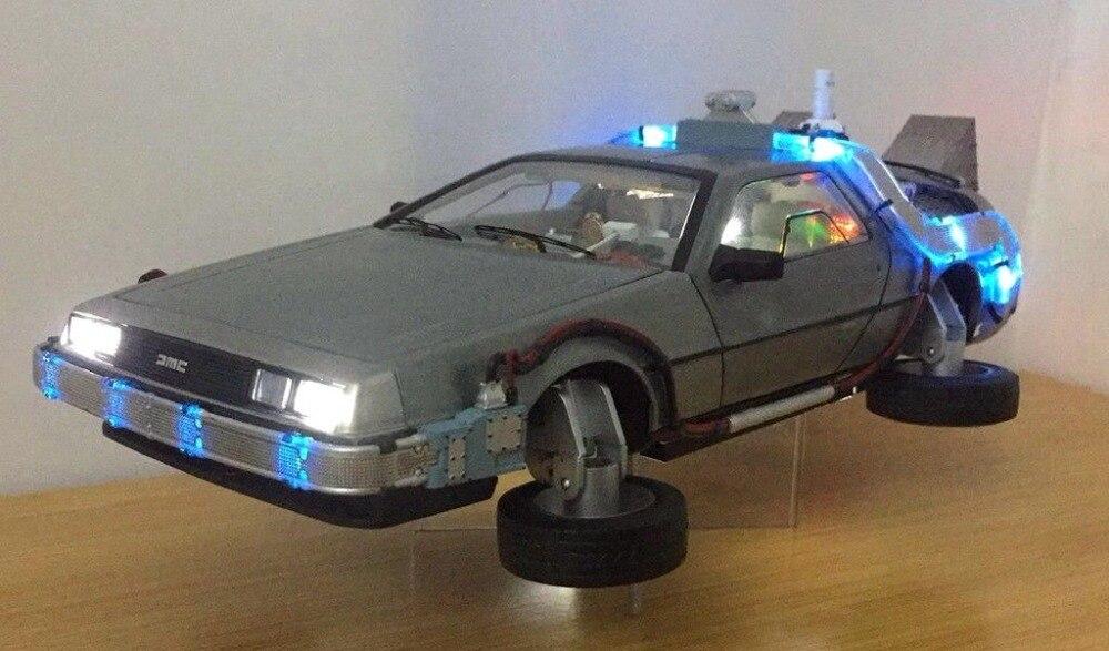 1:18 Diecast Modèle Voitures Arabalar Dmc 12 Delorean Temps Retour Vers Le Futur jouet voiture métal pour voiture Modèle Pour jouets pour enfants Cadeau Collection