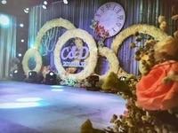 DIY wedding flower frame artificial flower wall metal stand wedding background decor iron arch flowers Decorative wreath