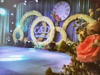 FAI DA TE fiore di cerimonia nuziale del telaio del fiore artificiale della parete del basamento del metallo sfondo di nozze decorazione arco di ferro fiori Decorativi corona