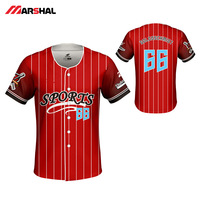 Sports custom design baseball jersey customized sublimated Printing shirt throwback stripe shirt tops for men