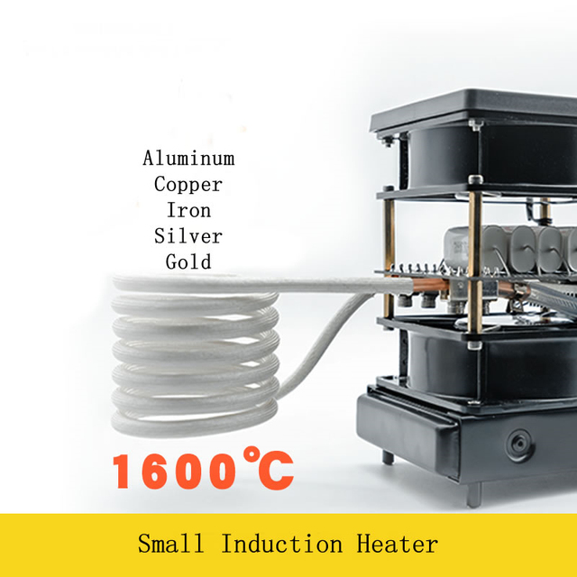 2500W Medium and High Frequency Induction Heater Small Induction Heating Furnace for Gold and Silver Melting 1600C