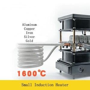 Image 1 - 2500W תנור חימום אינדוקציה קטנה דוד אינדוקציה תדר בינוני וגבוהה עבור זהב וכסף התכה 1600C