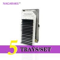 NAGARAKU 5 Trays Set J B C D Curl Length 7 15mm Mixed In One Tray