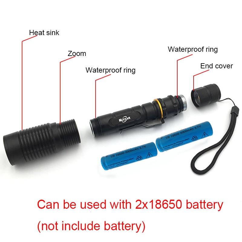 ZK20 Linterna LED V5 T6 8000LM 5 modos Zoom dropshipping Linternas - Iluminación portatil - foto 5