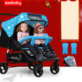 Twin baby stroller can sit lie stroller twins twin stroller folded