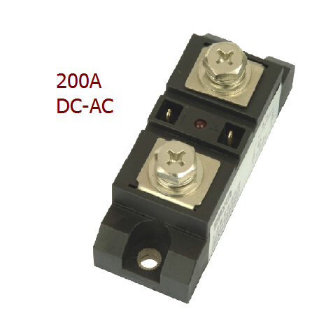 Factory price 200A SSR DC 3 32v to AC 75 480v, ac solid state relay industrial solid state relay, single phase ssr