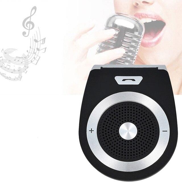 Car Stereo Bluetooth Car Kit Handsfree Wireless Bluetooth Receiver Clip Sun  Visor Speakerphone android car accessories 94da585616d