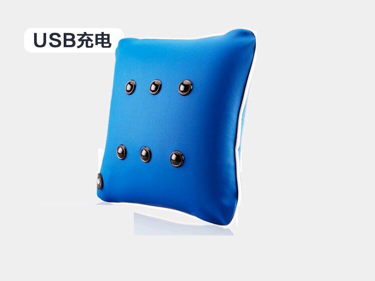 USB electric Vibrating Neck back Pillow cushion Nap pillow Body Massager Shiatsu Shoulder Back Massage Massages Car/Home neck support nap pillow