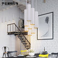 Nordic minimalist lamp post modern cafe bar pendant lights restaurant cabinet creative personality cylinder combination LED