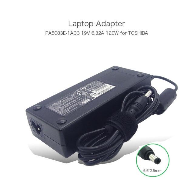 19V 6.32A 120W 5.5*2.5mm Power Adapter for Toshiba Satellite S70-B P70-A PA-1121-82 PA5083U-1ACA PA5083E-1AC3 PA3717U-1ACA PC