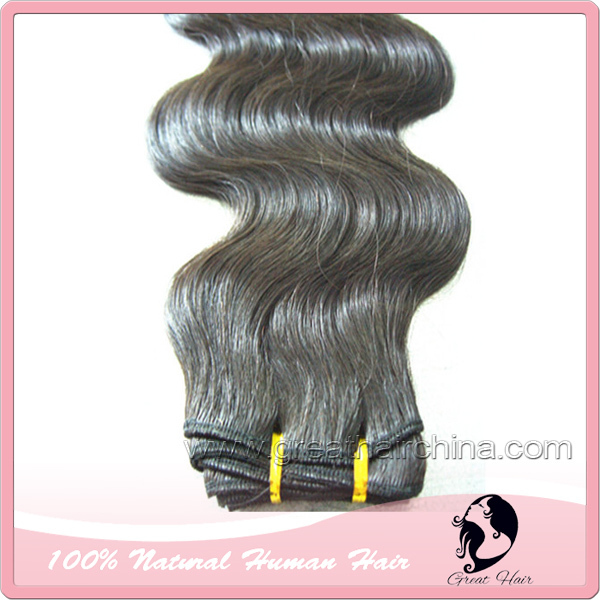 hair ring Double Drawn Hair Exension, 20inch  Cabelo Humano Body Wave, Natural Color Capelli Umani Hair Weaving, Free Shipping