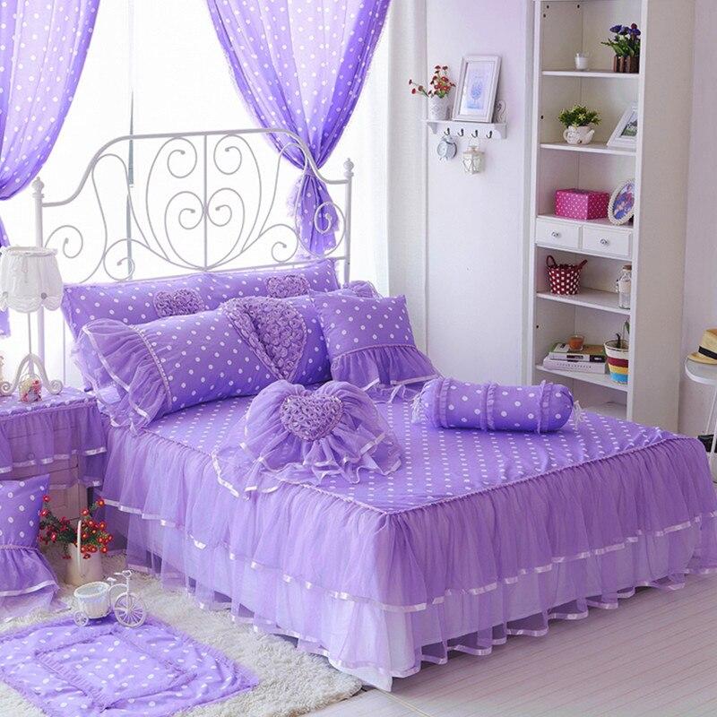 Bedskirt king 100% bavlněná krajka sukně plné postele, korejská - Bytový textil