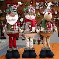1PCS Santa Claus Snowman Reindeer Doll Toy Standing Navidad Figurine Christmas tree Ornaments New Year Kids Gift Desk Decor G30