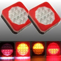 Brand New 2Pcs 12V LED Trailer Van Truck Rear Tail Stop Indicator Light License Plate Lamp