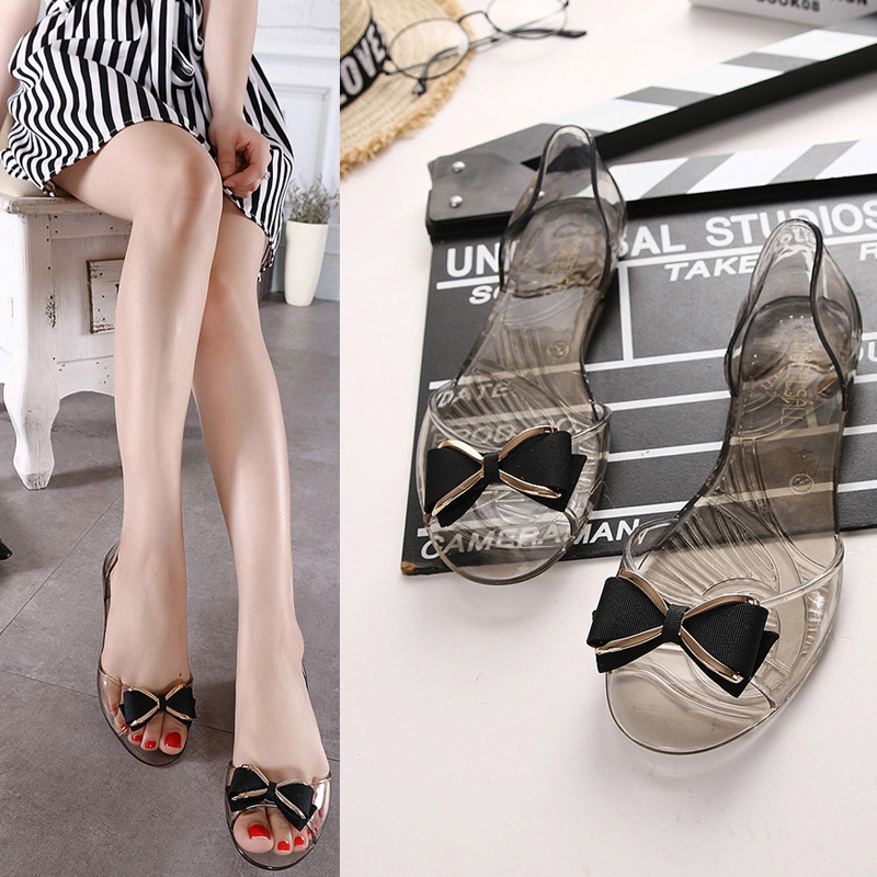 Summer sandals female open toe fashion beach jelly flat slip-resistant shoes all-match shoes
