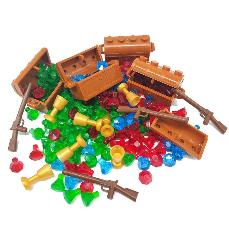 50pcs Accessories Parts Building Blocks Treasure Diamond Gem Stone Jewelry City MOC Bricks Toys Compatible Friends