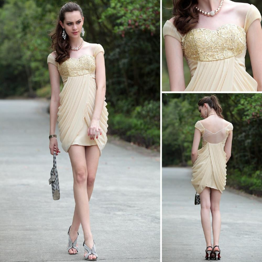 c83e714b7618 free shipping 2018 beige clairvoyant outfit exquisite handmade quality  fashion gauze embroidery Bridesmaid Dresses